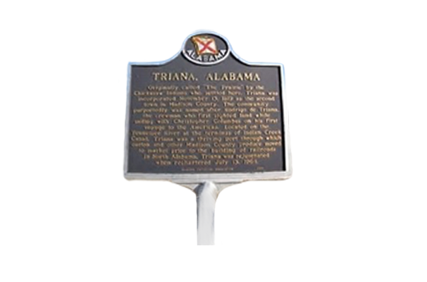 Triana Historic Marker